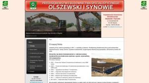 Bauindustrie - Bauunternehmen - Industriebau,  in Polen Przedsiębiorstwo Budownictwa Specjalistycznego Włodimierz Olszewski Sp. jawna